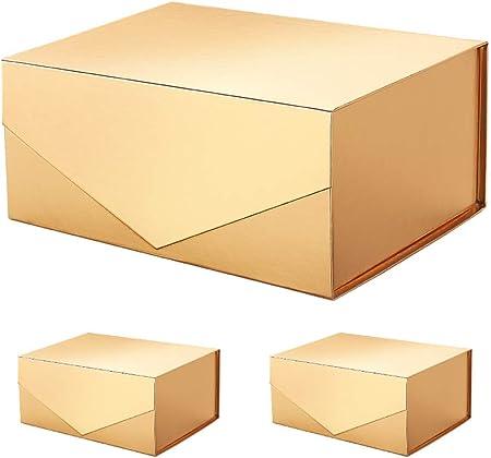 Packhome cajas de regalo rectangulares de 9.5 x 7 x 4 pulgadas, cajas de dama de honor, cajas plegables rectangulares con tapa magnética para embalaje de regalo: Amazon.es: Hogar