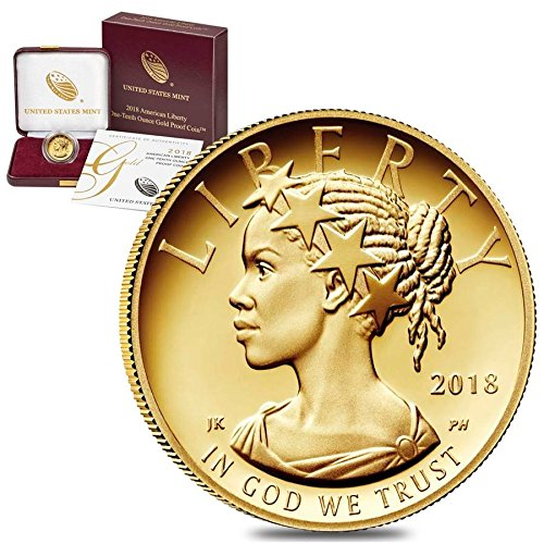 2018 W Gold Eagle 2018 W 1/10 oz $10 American Liberty Proof Gold Coin (w/Box & COA) $10 Proof US Mint DCAM 24k Gold Coin Mint