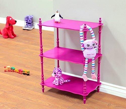 Frenchi Home Furnishing Kid's 3-Tier Shelves (Bookshelf Purple)