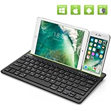 """Multi Device Bluetooth Keyboard for iPad Air 2/Air,iPad Pro,iPad mini 4/3/2/1,iPad 4/3/2,New iPad 9.7""""(2018/2017),iPhone,Smartphones,Tablets and Other Bluetooth Enabled Devices"""