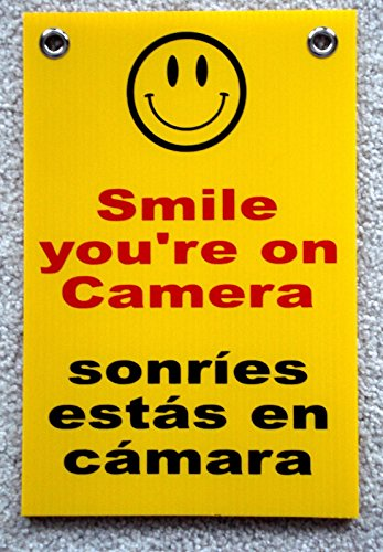 Hardware Monitoring (1-Pc Blameless Popular Smile You're On Camera Security Signs Protection Surveillance Warning Size 8