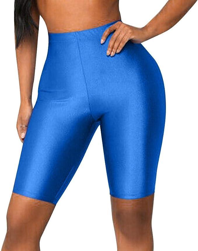 RISTHY Leggins 3/4 Mallas Deportivas Pantalones Cortos de Mujer ...
