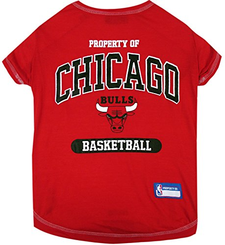 - NBA Chicago Bulls T-Shirt for Dog, T-Shirt for cat, Size: Medium. - A Sports Licensed Shirt for Any Occasion!