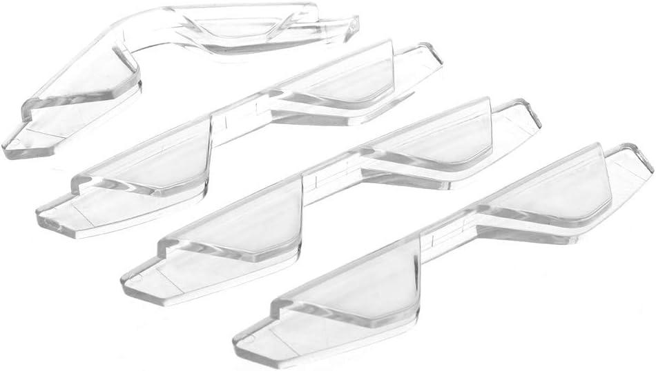 Xuniu 4 Piezas Puerta del Coche Guardia del Borde Anticolisi/ón Tiras de Adhesivos Protector contra rayones
