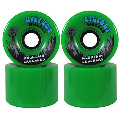 Bigfoot Longboard Wheels 83A Mountain Crushers, 76mm