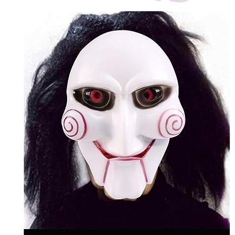 WHFDRHWSJMJ Mascara Halloween Terror de LED Cosplay Máscara de Halloween Broma práctica Gadget Disfraz de Halloween Máscara de Mascarada Novedad Joker ...