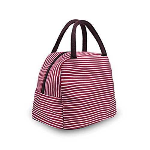 Tinksky Reusable Insulated Lunch Box Tote Bag Travel School Picnic Container