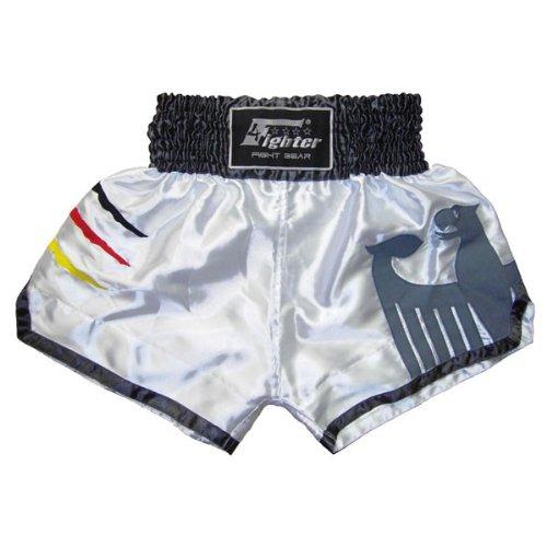 4Fighter 4Fighter 4Fighter Muay Thai Shorts National Deutschland in coolem, weißem WM Trikot-Design XS-XXXL B00AW9RI8Q Hosen Mode f2479a