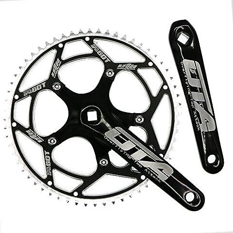 Single Speed Crankset Set 60T 170mm Crankarms 130 BCD CYSKY Fixie Crankset for Single Speed Bike, Fixed Gear Bicycle, Track Road Bike (Square Taper, - 170 Mm Arm Set