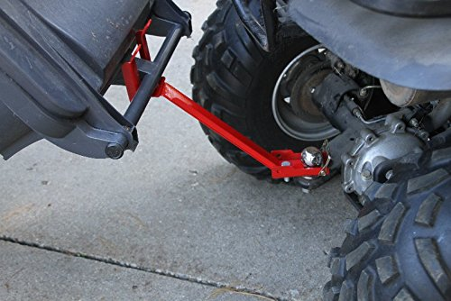 ATV or Lawn tractor single can garbage hauling (Trash Can Carrier)