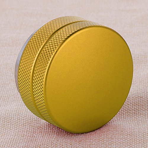 Stainless Steel Macaroon Shape Coffee Powder Blower Tamper Sands Coffee Fillers with Three-fan Bottom 58mm Diameter Gold