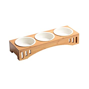 POPETPOP Tazón de cerámica para Perros Tazón de Fuente para Cachorros Cuenco de Comida para Gatos