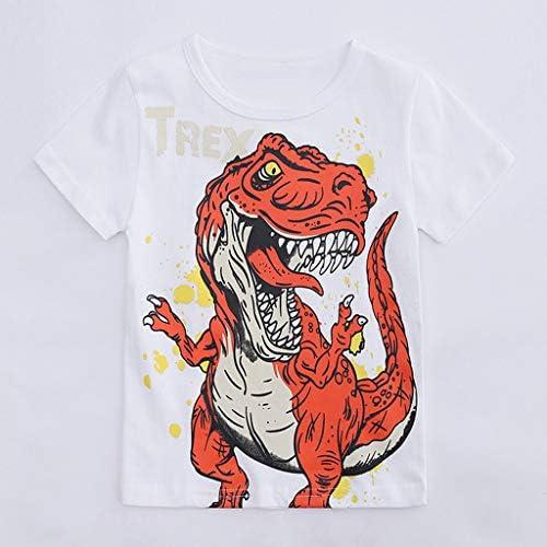 Innerternet-Camiseta de niño, (12 Meses-6 años de Edad) Bebes niños Camiseta Manga Corta de Estampado de Dinosaurio de Dibujos Animados/Cuello Redondo Camiseta de Letra Trex Impresa: Amazon.es: Ropa y accesorios