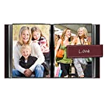 "Pioneer Photo Albums 36-Pocket 5 by 7-Inch Embroidered ""Love"" Strap Sewn Leatherette Cover Photo Album, Mini, Burgundy"