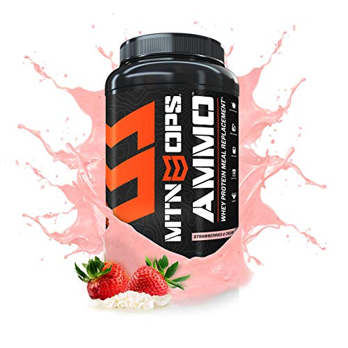MTN OPS Ammo Protein Meal Replacement Powder - 28 Servings, Strawberries & Cream