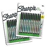 Sanford Sharpie Fine Point Pen Stylo, Assorted Colors, 24-Pack