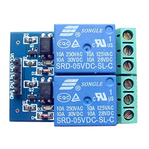Bobury 5V 10A 2 Channel Relay Module Board Optocoupler Isolated Relay Opto Relay Board Expansion Board