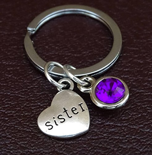 Sister Keychain Charm Pendant Key Chain Gifts Gift Birthday For
