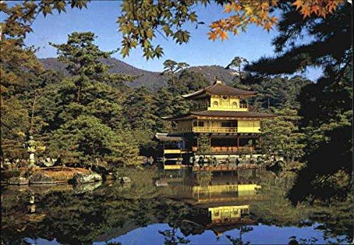 Kinkakuji Temple Golden Pavilion Kyoto, Japan Original Vintage Postcard