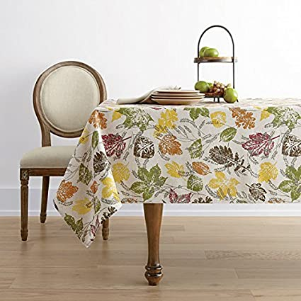Amazon.com: JCPenney Home Sprawling Leaves Tablecloth 60\