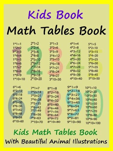 Kids Math Tables Book Teach Math Tables To Your Kids Kindle