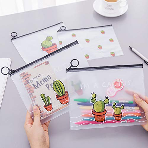 Euone Bags Clearance , 4 pcs Cute Cactus Student Pencil Pen Case Cosmetic Pouch Pocket Brush Holder Makeup Bag