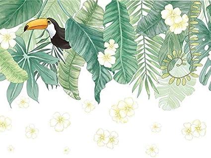 Pegatina pared/cristal hojas y tucan para salones terrazas dormitorios, armarios, cabeceros, tiendas caravanas regalos 1.15 x 73 cm de CHIPYHOME: Amazon.es: Bricolaje y herramientas