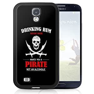 Black Cover For Samsung Galaxy S4 Drinking Rum Humorous Funny Joke Phone Case