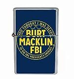 Burt Macklin FBI Funny Parks Flip Top Oil Cigarette Lighter