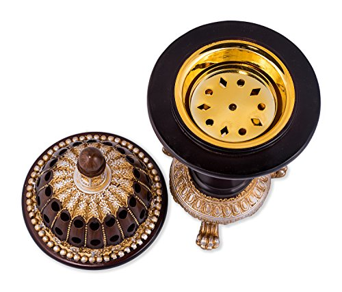 Charcoal Frankincense Incense Bakhoor Resin - Luxury Burner Globe