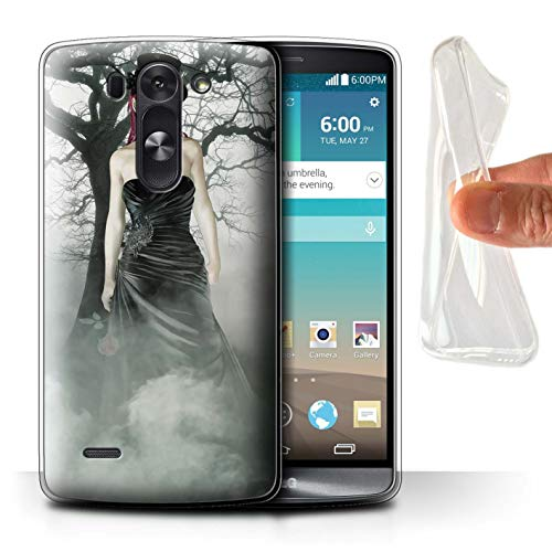 STUFF4 Gel TPU Phone Case/Cover for LG G3 Mini S/D722 / Black Dress Woman Design/Day of The Dead Festival ()