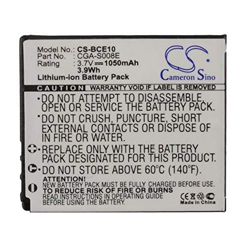 Battery Camera 1050mAh/3.89Wh 3.7V Camera Battery for RICOH DB-70 Caplio CX1 Caplio CX2 Caplio R10 Photo Battery (Color : Black, Size : 40.40 x 36.45 x 7.40mm)