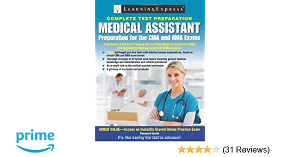 Medical assistant exam preparation for the cma and rma exams medical assistant exam preparation for the cma and rma exams 9781576857588 medicine health science books amazon fandeluxe Gallery