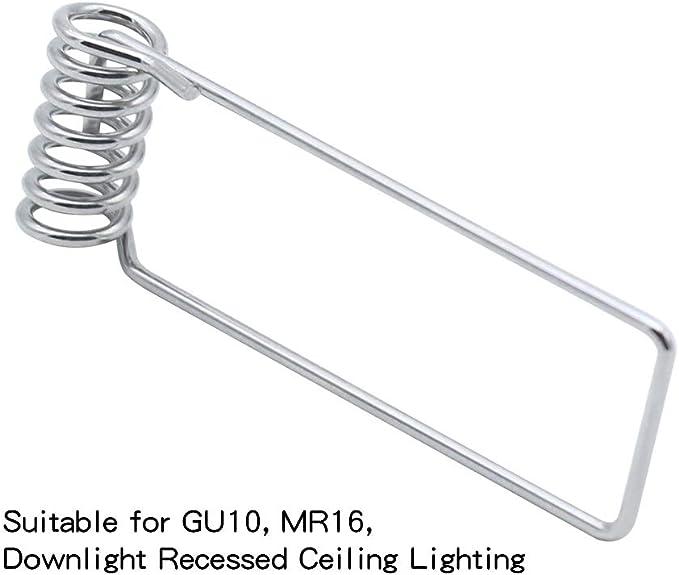 Bluexp 20 Stücke Mr16 Gu10 Haltefeder Clip 50mm Durchmesser Led Haltefederklemmen Feste Federklammer Für Mr16 Gu10 Spot Light Downlights Einbauleuchte Beleuchtung