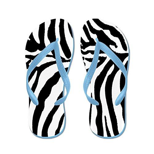 CafePress Zebrapillow.Gif - Flip Flops, Funny Thong Sandals, Beach Sandals Caribbean Blue