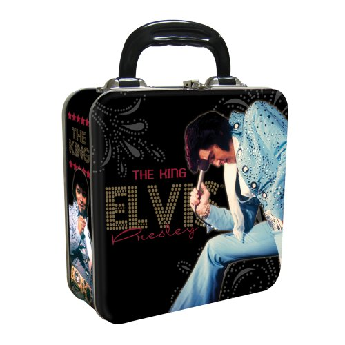 Vandor 47070 Elvis Presley Square Tin Tote, Black