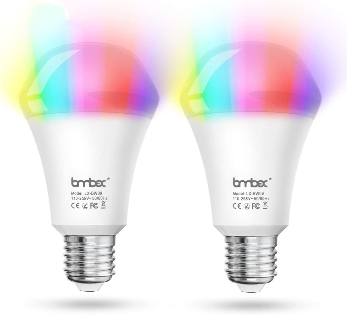 G SOUL Smart Light Bulb Alexa Colour Changing Light Bulb E27 Smart LED Bulb, 10w Dimmable Bulb, No Hub Required Compatible with Alexa, Google Home and IFTTT 2 Pack