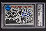 Nolan Ryan New York Mets Autographed 1970 NL Playoff Topps #197 Signed Card PSA