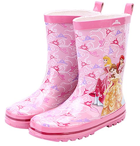 Princess Girl Kids Wellington Boots Wellies Rain Boot (Toddler/Little Kid) (13M US Little Kid) Pink