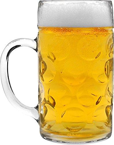 Rink Drink German Stein Beer Tankard/Glass - 2 Pints (40oz) - Gift Boxed ()