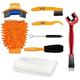 Bike Clean Brush Kit, Oumers 8pcs Motorcycle Bicycle Cleaning Tools Make Chain/Tire/Sprocket/Crank Bike Corner Stain Dirt Clean Shine. Durable/Practical