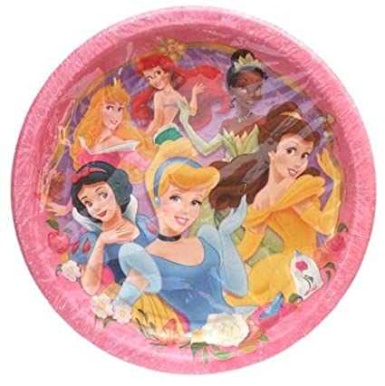 Disney Princess Paper Party Plates - Pack of 8 Full Size Plates  sc 1 st  Amazon.com & Amazon.com: Disney Princess Paper Party Plates - Pack of 8 Full Size ...