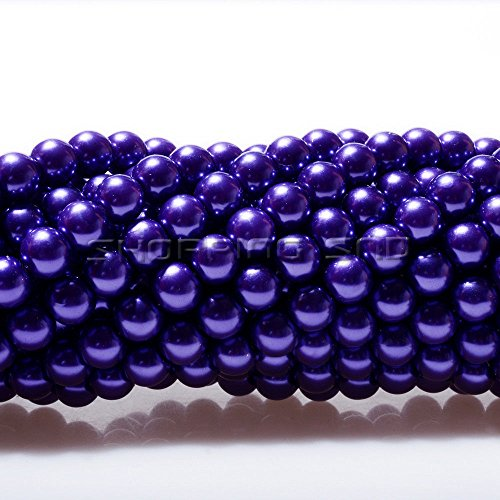 100pcs Top Quality Czech Glass Pearl Round Beads 3mm Amethyst Color