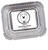 small aluminum pans disposable - DOBI Takeout Pans - Disposable Aluminum Foil Take-out Containers with Lids, Small Size (Pack of 50)