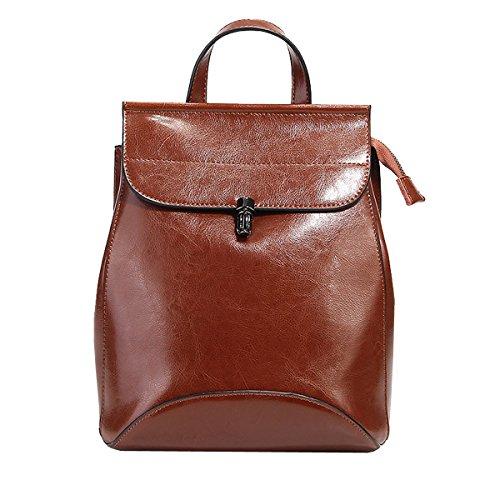 Sac fashion main femme portés à Sac dos 8967 Marron cuir en DISSA LF BTXnwqxR
