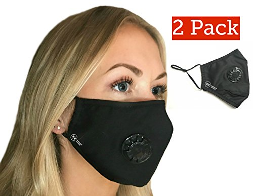 Pollution Mask Military Grade Anti Air Dust and Smoke Pollution Mask with Adjustable Straps and a Washable Respirator Mask Made For Men Women and Kids N99 N95 Mask  (2 Pack Black Mask)