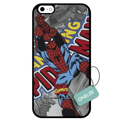 Onelee - Customized Marvel Super Hero Spider Man TPU Case Cover for Apple iPhone 6 - Black 03