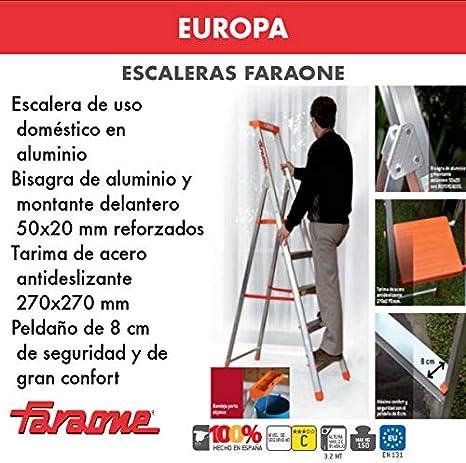 ESCALERA EUROPEA. FARAONE. LCS (EN 926. 6peldaños): Amazon.es: Bricolaje y herramientas