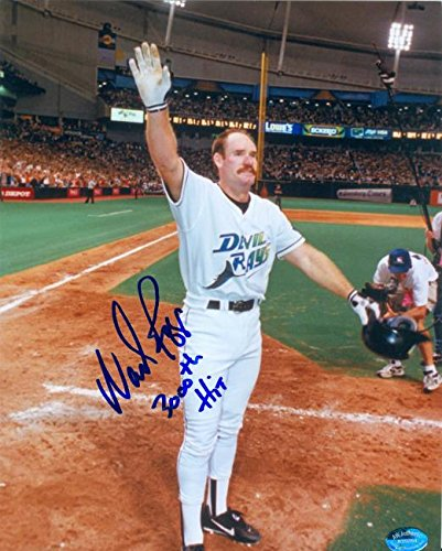 Autograph 120144 Tampa Bay Devil Rays Inscribed 3000Th Hit Wade Boggs Autographed 8 x 10 in. Photo