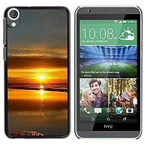 "For HTC Desire 820 , S-type Sunset Beautiful Nature 99"" - Arte & diseño plástico duro Fundas Cover Cubre Hard Case Cover"